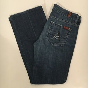 7 For All Mankind A Pocket Flip Flop Jeans Size 26